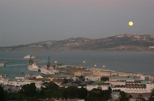 Vista del puerto de Tanger
