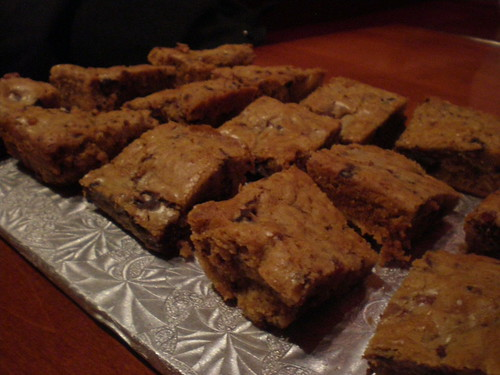 The Bacon Blondies ready for sampling at the FoodieMeet bake off.