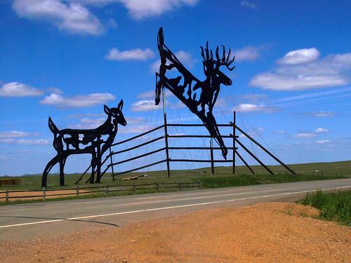 Enchanted Highway Deer Crossing