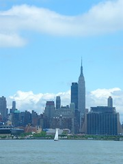 Quiet Day in New York (Stanley Zimny (Thank You for 11 Million views)) Tags: nyc newyorkcity ny newyork building river boat sail empirestatebuilding empirestate hudson bigapple 5photosaday