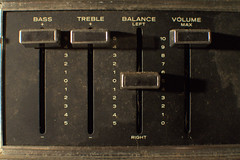 equalizer (underwhelmer) Tags: house brooklyn bass interior parkslope turntable ephemera limestone balance treble scr volume equalizer