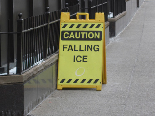 Falling Ice Warning Sign