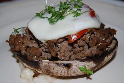 portobello met lamsvlees