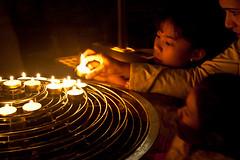 Lighting Votive Candles