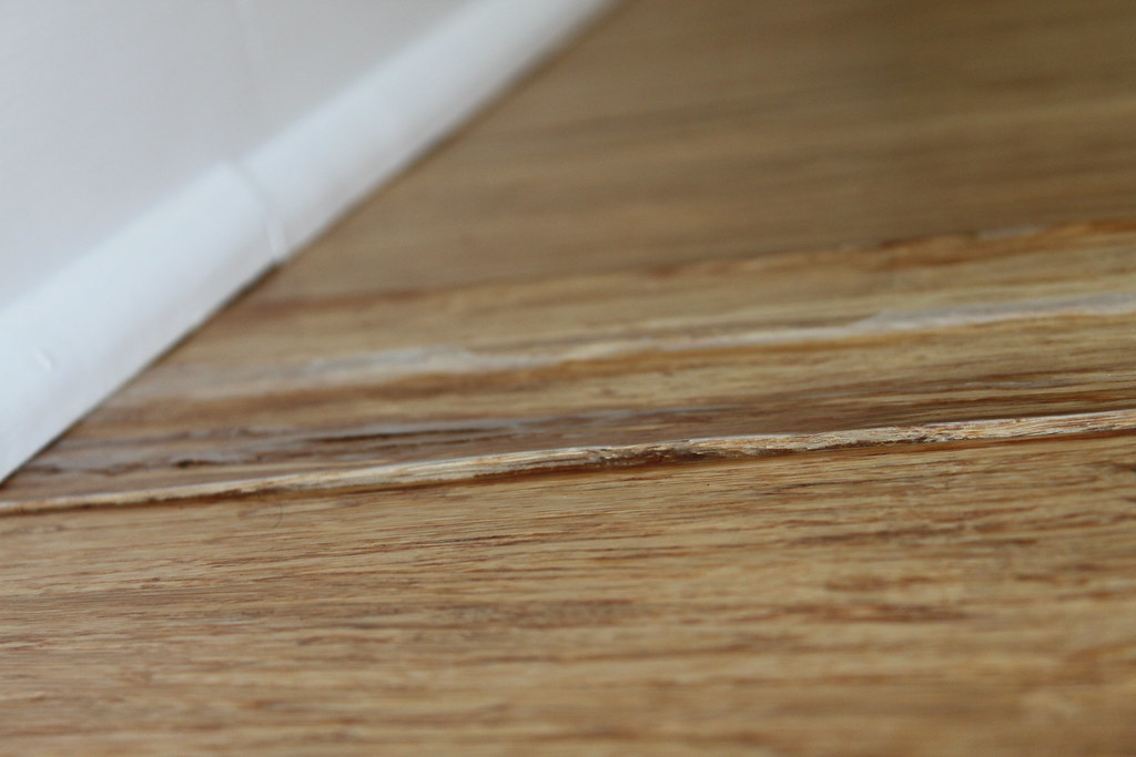 "Morning Star Bamboo - 5/8"" x 3-3/4"" Prefinished Natural Strand Bamboo Flooring - 30 Year Warranty finish peeling off"