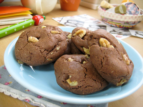 choco walnut cookie bites