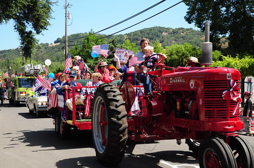 In Sonoma, if you have a tractor and kids with flags, youve got a float. We are totally entering a float next year.