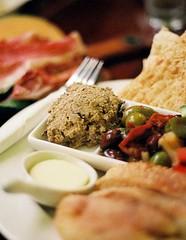 Degustation a la Espaa (neo van Raven) Tags: food bread olive ham butter pickled sundriedtomato pate cantaloupe smoked muskmelon rockmelon
