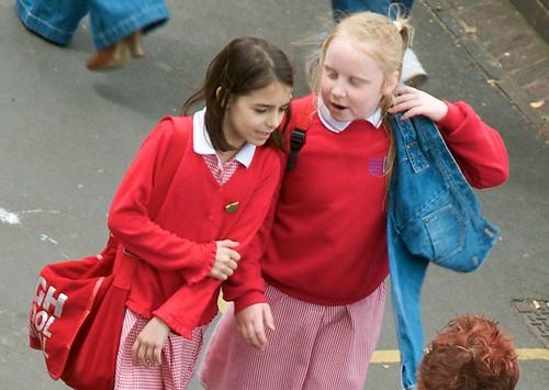 Something is. young british school girls