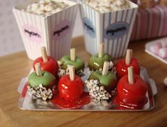 Miniature Carnival Set (PetitPlat - Stephanie Kilgast) Tags: carnival pink rose miniatures candy marshmallows icecream popcorn sweets minifood dollhouse glace feteforaine babyblue candyapples miniaturen oneinchscale sucreries bleuciel petitplat minaiturefood