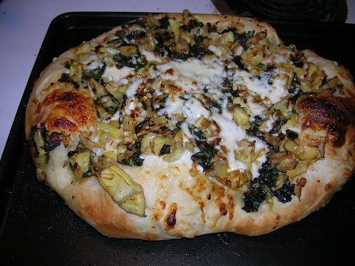 Artichoke and Chard Pizza