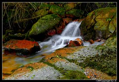 Playing with colors & lights... (baycibi) Tags: light red verde green nature water river rocks flash waterfalls canon5d rocce acqua rosso lombardia varese luce cascate torrente canon1740l iyaly nd8 brusimpiano trallo