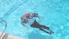 JPO2 in the pool (Mr. Muddy Suitman) Tags: tie suit jeans wetlook 501s