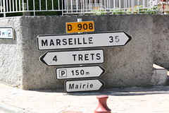 Road Sign Marseille