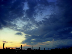 blu (Diaaavelo) Tags: city sunset sky rome roma green colors grass clouds wind thoughts silence everyday outskirts cieloromano milalire