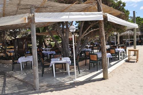 Mesas en el Restaurante Tropicana