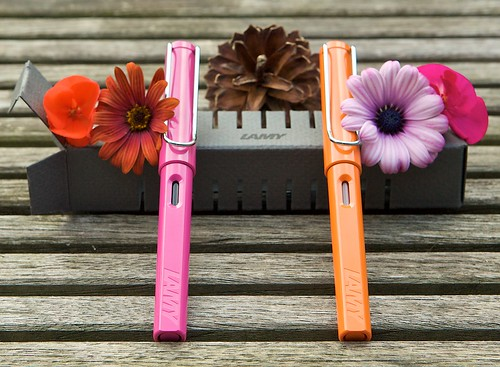 Lamy Safari Pink and Orange