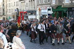 Clan Bruce at the Clan Parade - The Gathering 2009