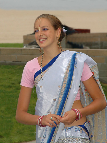 Gopika wearing sari at ISKCON Festival of the Chariots