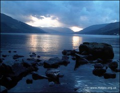 Loch Earn Winter Sunset, Scotland (Hotpix [LRPS] Hanx for 1.5M Views) Tags: loch earn sunset scotland perth uk lake water sky dusk clouds blue rocks rock reflection reflections schotland lecosse ecosse schottland  la scozia    escocia thisphotorocks tonysmith tony smith noche nuit edinbrugh hotpix tonysmithhotpix