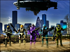 The Fall of New Mombasa (erndb) Tags: new game skyline digital photoshop toy downtown houston halo xbox scout security eod figure videogame matchmaking bungie multiplayer peterjackson mombasa spartan wasteland mcfarlane hayabusa halo3 cqb theotherside district9 odst dbphotography digirama tpots haloodst newmombasa otakubutgangsta