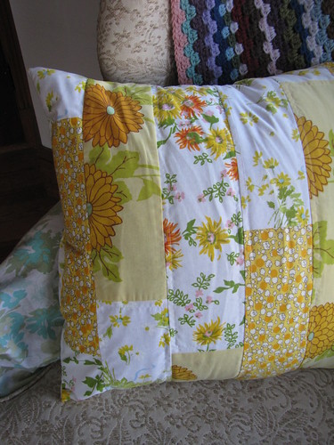 pillow cover from vintage sheets