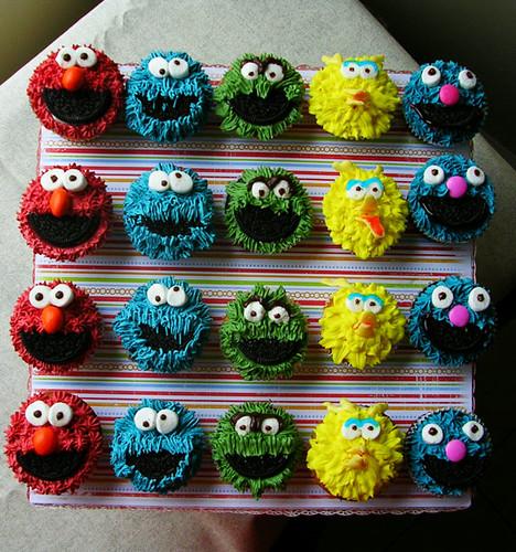 Sesame Street cupcaks from ShiShi in Montreal