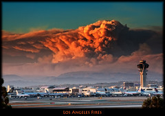 Los Angeles Forest Fire (szeke) Tags: california clouds airplane fire la losangeles smoke burn disaster forestfire lax brushfire elsegundo angelesforest lacanada littlestories stationfire angelesmountains mywinners specialtouch picswithsoul qualitypixels