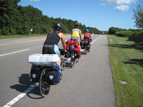 Biking through Long Island