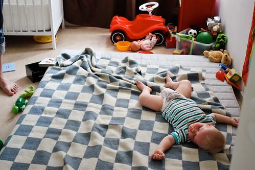 Gusten sover i sitt rum