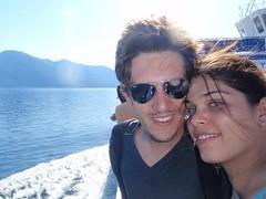 Nat et Nico sur le ferry