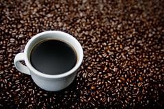 Bean Bokeh (Jeff Engelhardt) Tags: morning brown white hot texture jeff cup coffee java beans bokeh bean mug minimalist ruleofthirds engelhardt jeffengel