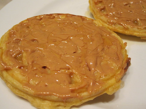 Waffles with PB and honey
