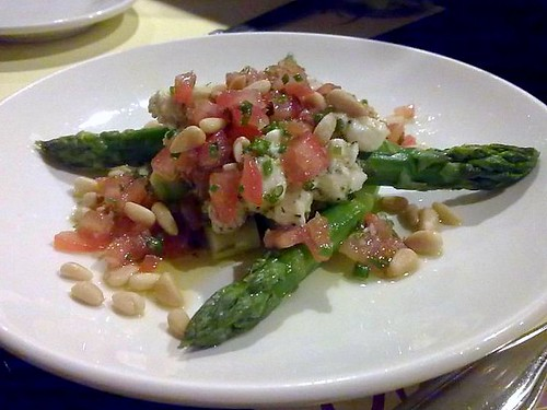 Asparagus Salad with Tomato Bruschetta