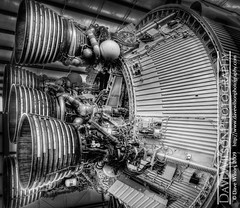 Second Stage Engines, Saturn V (DaveWilsonPhotography) Tags: space houston nasa rocket saturn hdr spacecenter saturnv johnsonspacecenter jsc photomatix rocketpark 2ndstage 3exp secondstage