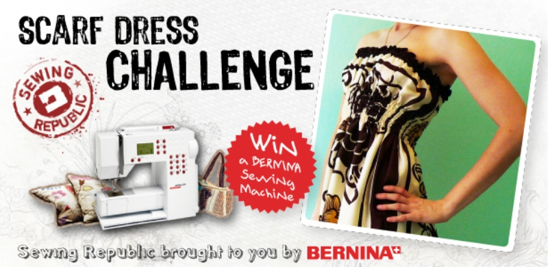 bernina scarf challenge sewing competition
