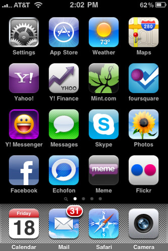 My iPhone Home Screen #homescreen by Sam Pullara.