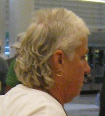 Gray-Haired Granny Mullet (vlup2us65) Tags: grandma classic mullet gray granny grayhair goldearring