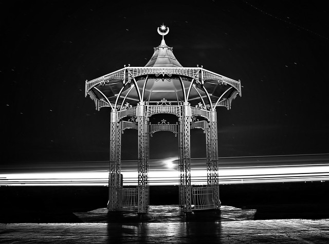 "Southsea Band Stand.  Long exposure with Ferry Going by.  <a href=""#//www.hexagoneye.com"""" rel=""nofollow""> A hexagoneye.com Pic</a>"
