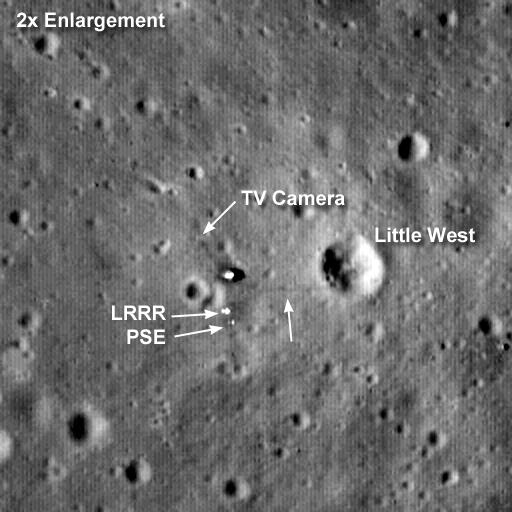 Il sito dell'Apollo 11 fotografato da LRO (agosto 2009)