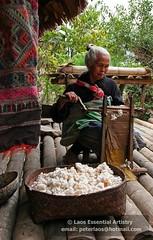 Laos Weaving Photo123 (Laos Essential Artistry) Tags: silk textiles laos weaving handwoven looms laotextiles