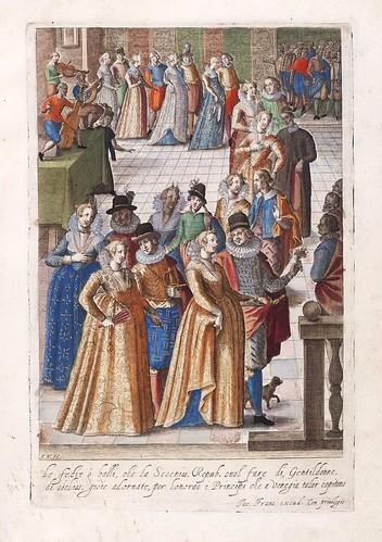 018-Baile en la Repuplica de Venecia-Habiti d'hvomeni et donne venetiane 1609
