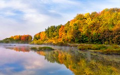 Oneida Valley Dam (cindygraphics) Tags: autumn sky fall water westernpennsylvania colorphotoaward flickrbestpics