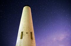 Seeing Stars at Mt. Lofty (jaybirdd) Tags: sky night way stars purple obelisk adelaide nightsky southaustralia milky dss stacked lofty milkyway mountlofty mtlofty deepskystacker