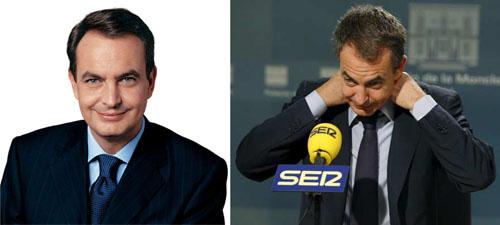 Fotografía del antes y el después de José Luis Rodríguez Zapatero