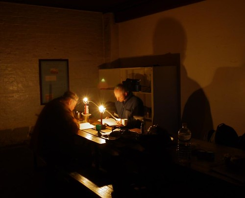 The Boys Reading by Candlelight