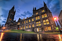 University of Glasgow - Main building (eric.duminil) Tags: road building