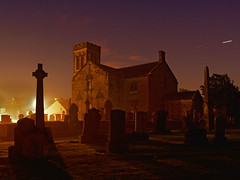 Dunlop Parish Church (BoboftheGlen) Tags: longexposure church cemetery graveyard parish star village trail dunlop ayrshire