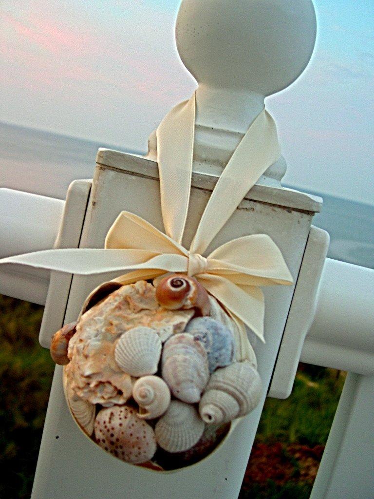 Christmas beach ornaments - Shell Ball Beach Ornament Shell Ball