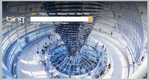 Bing UK Berlin Wall Home Page